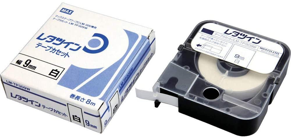 Nhãn in MAX LM-TP309W ( Nhãn in 9mm - màu trắng - dài 8 met )