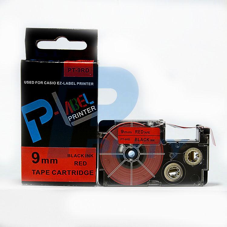 Nhãn in  CASIO PT-9RD ( chữ đen nền đỏ 9mm )