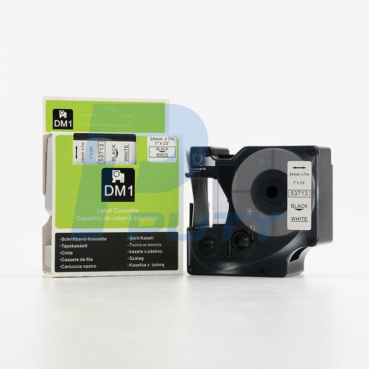 Nhãn in Dymo 24mm DM-53713 ( chữ đen trên nền trắng )
