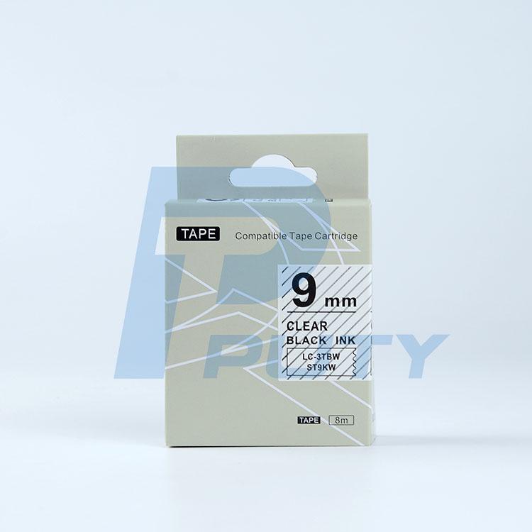 Nhãn in TEPRA ST9KW ( Tương Đương ST9K ) - Nhãn chữ đen trên nền trong 9mm