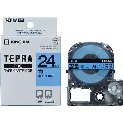 Băng Dán Nhãn Tepra Pro SC24B ( Chữ đen trên nền xanh dương - Khổ 24mm - Dài 8 met )
