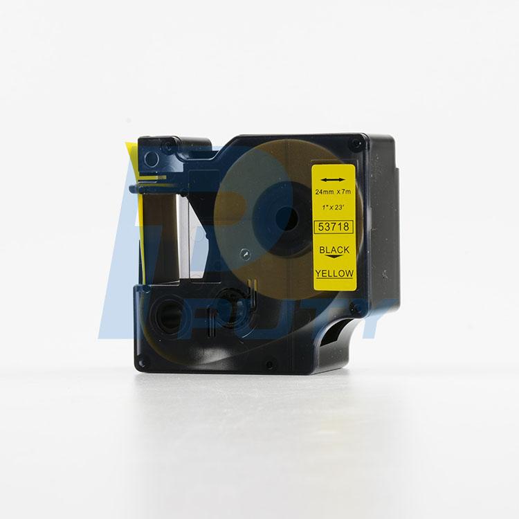 Nhãn in Dymo 24mm DM-53718 ( chữ đen trên nền vàng )